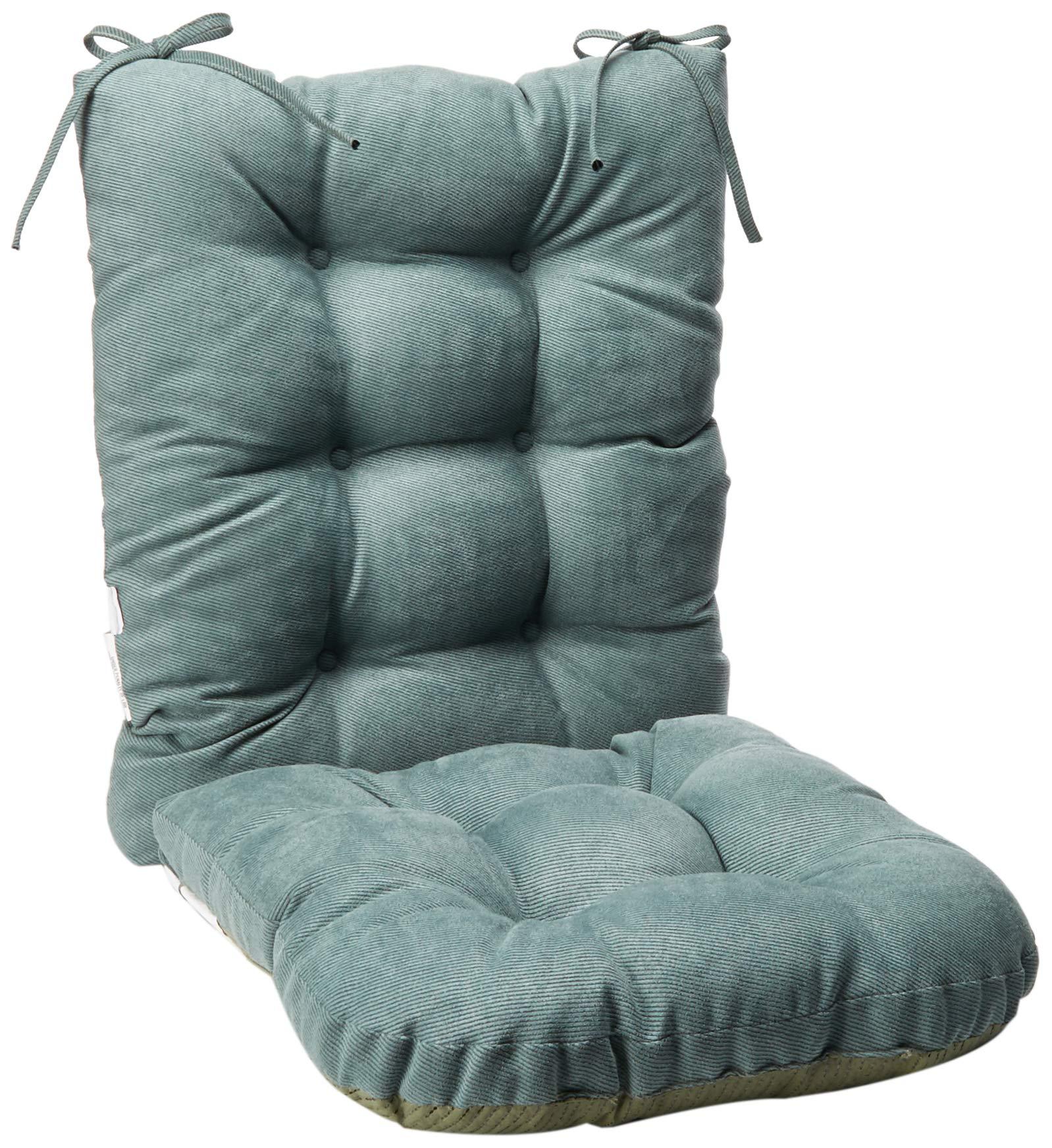 Klear Vu Twill Rocking Chair Pad Set, 17 x 17 x 3 inches, Marine