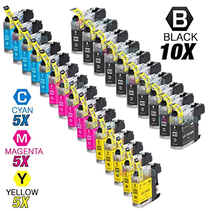 LD 10 Pack LC79 Extra HY Black /& Color Ink Cartridge Set for Brother Printer