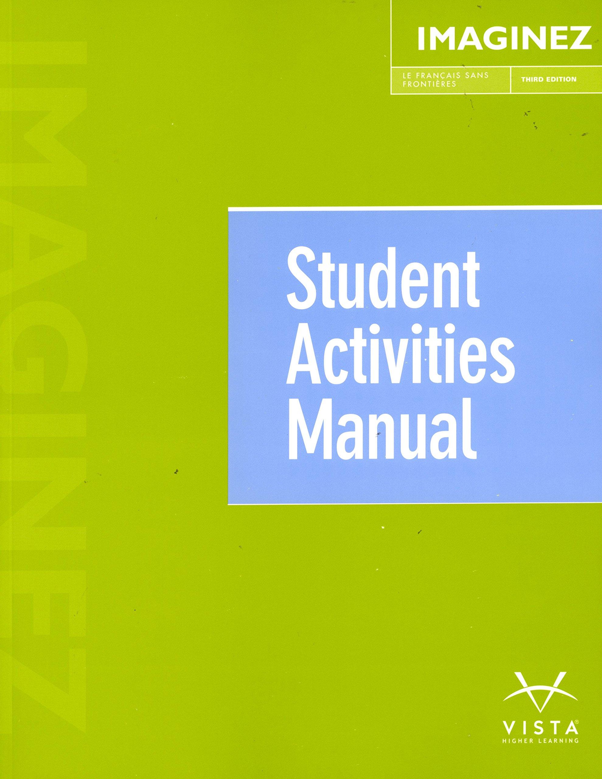 imaginez 3rd ed student activities manual vhl 9781626808164 rh amazon com imaginez student activities manual answer key