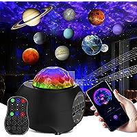 Galaxy Light Projector 10 Planet Mode & Star Skylight Projector with Bluetooth Music Speaker & Rotation Planetarium…