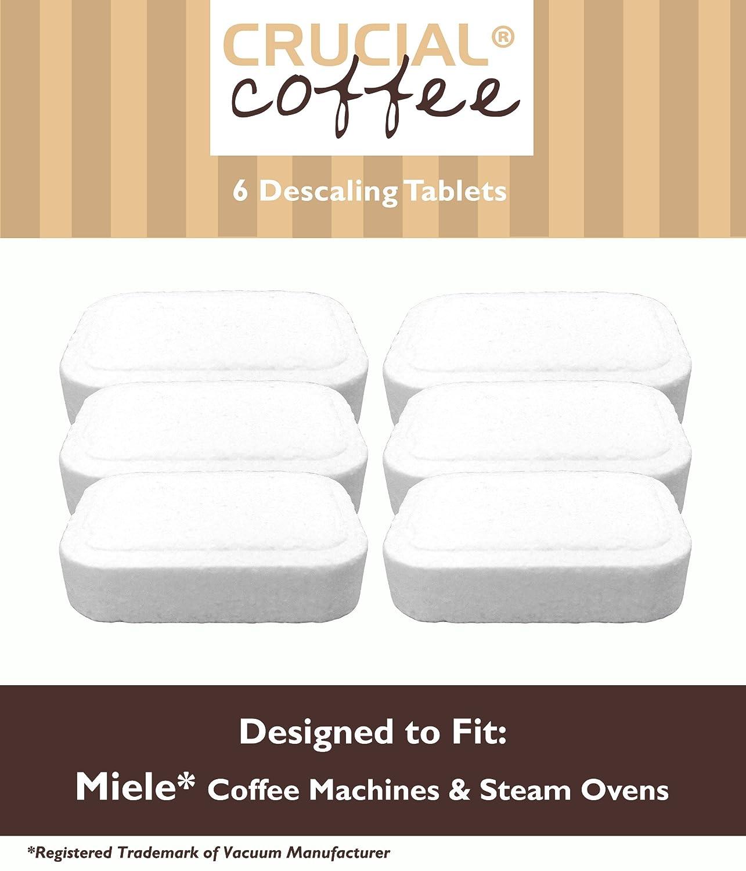 6 Miele máquinas de café y vapor Overs desincrustación Tablets diseñados para su uso en Miele máquinas de café y vapor hornos; Comparar a Miele Tablet ...