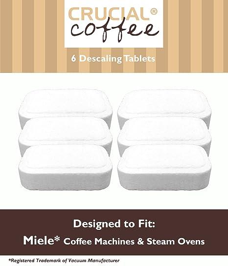 6 Miele máquinas de café y vapor Overs desincrustación Tablets diseñados para su uso en Miele