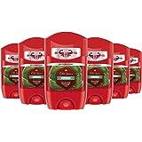Old Spice Citron Anti-transpirant en deodorantstick, voor heren, 50 ml, 1 verpakking van 6 stuks