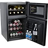 Kalorik Beer & Wine Cooler (Kalorik Black 2-in-1 Mini-Fridge and Wine Cooler)
