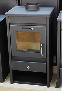 Estufa de leña chimenea moderna Log quemador estufa para madera, parte superior – 9 kW