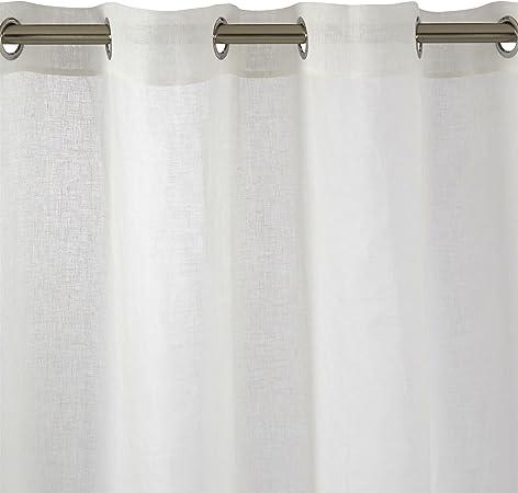MADURA - Visillo con Ojales Shadow, Tejido, algodón, Blanco, 138x350 cm: Amazon.es: Hogar