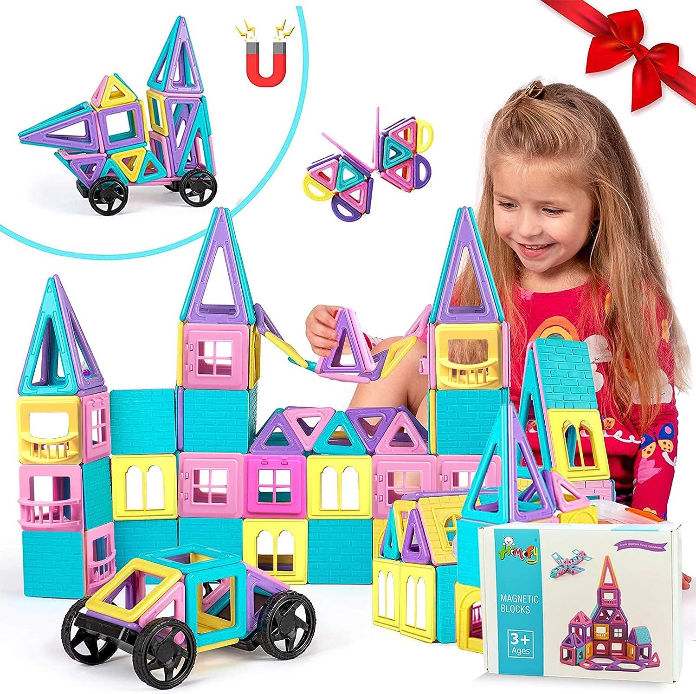 HOMOFY 42pc Castle Magnetic Blocks Learning /& Development Magnetic Tiles Blocks 3D STEM Educational Kids Toys for 3 4 5 6 7 Years Old Boys Girls Toddlers Gifts