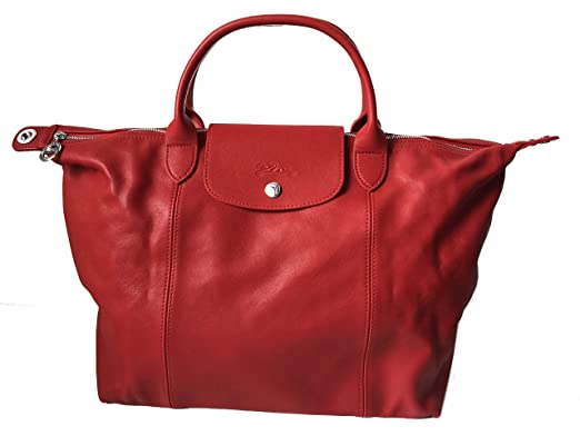dac5791c01e3 Longchamp Medium Handbag Le Pliage Neo 1515 737 045 - Red  Amazon.co.uk   Clothing
