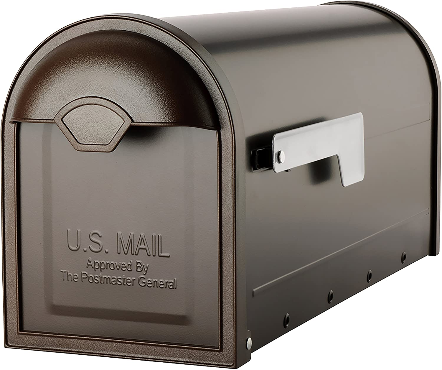Architectural Mailboxes 8830RZ-10 Winston Post Mount Mailbox, Rubbed Bronze
