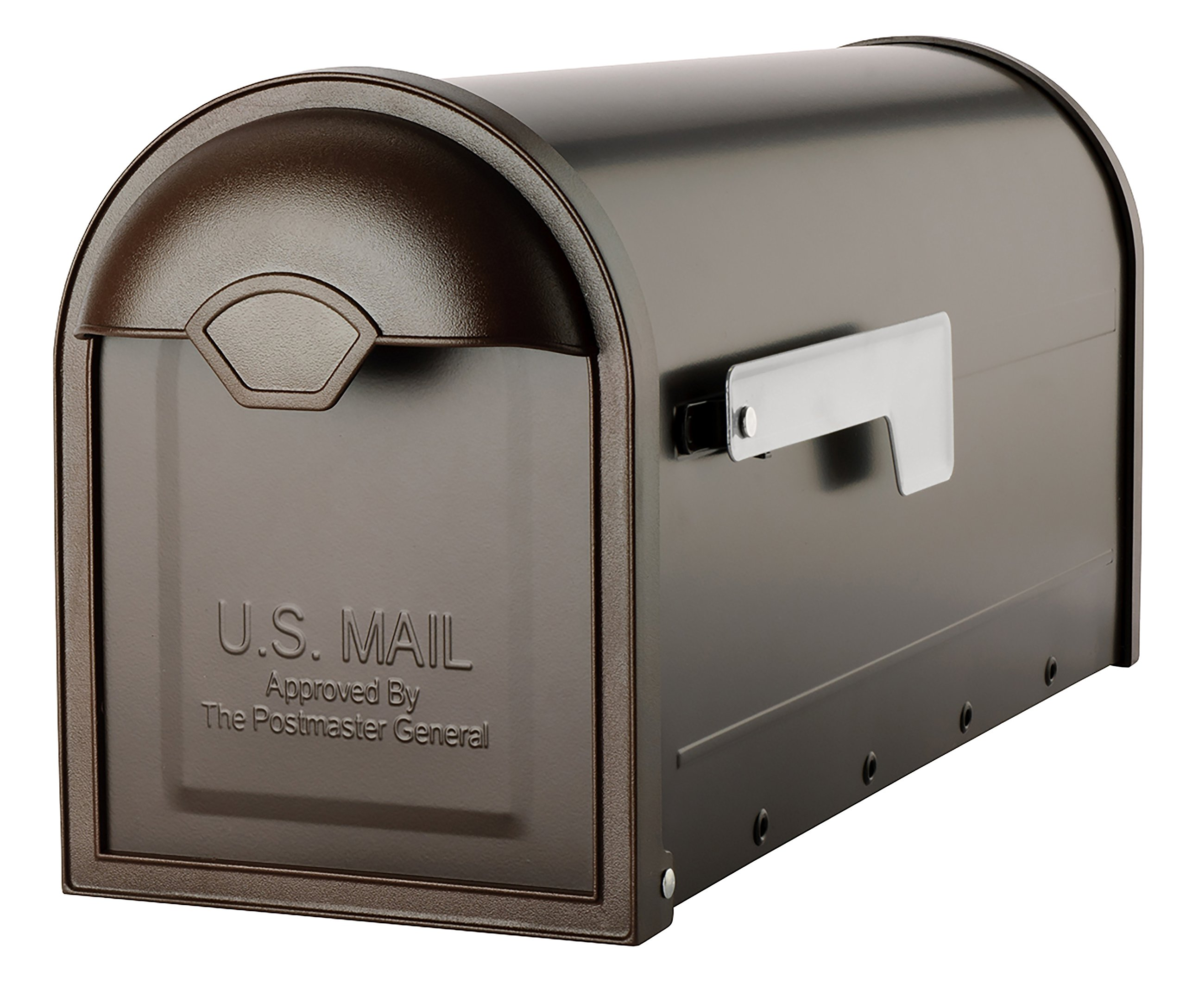 Architectural Mailboxes 8830RZ-10 Winston Post Mount, Medium, Rubbed Bronze