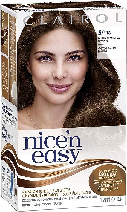 Clairol Nicen - Tinte permanente para el cabello (5 unidades, tamaño mediano), color marrón