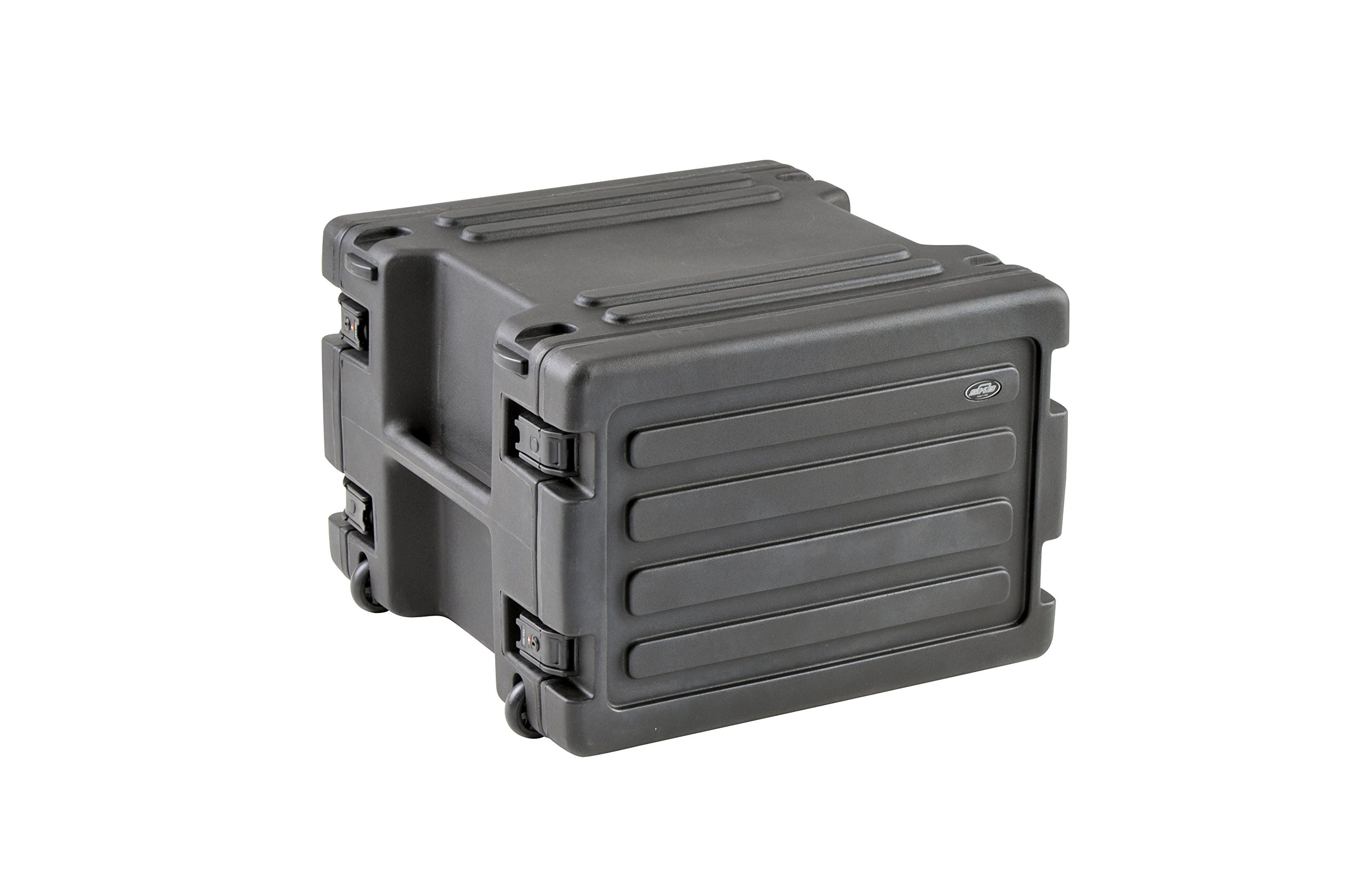 SKB 8U Space Rack with In-line Wheels, TSA Latches, and Handle