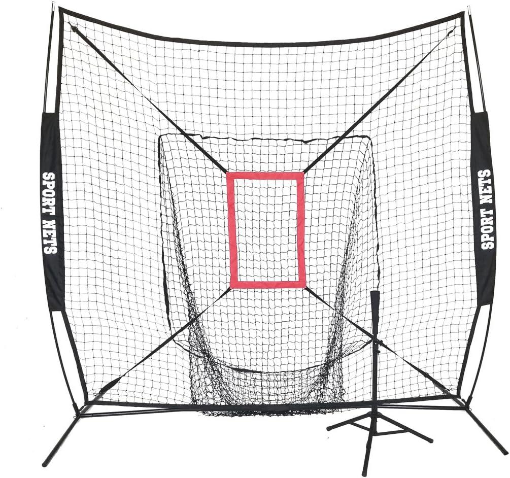 大きな口Hitting Net with Strike Zone and Tee ブラック