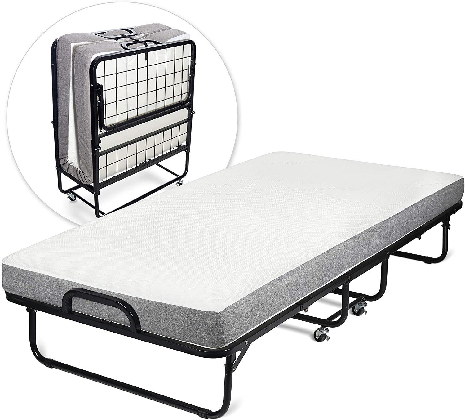 - Milliard Diplomat Folding Bed – Cot Size - With Luxurious Memory
