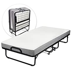 """Milliard Diplomat Folding Bed – Twin Size - with Luxurious Memory Foam Mattress and a Super Strong Sturdy Frame – 75"""" x 38"""