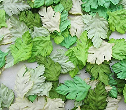 Amazon 100 Pcs Patch Green Leaves 37x23 Mm Mulberry Paper