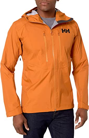 Helly-Hansen mens Verglas Lightweight Waterprooof Windproof Breathable Hooded 3-layer Shell Jacket