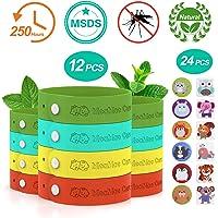 MeaMae Care Mückenschutz Armband Moskitoschutz Armband 12 Stück Mückenarmband Insektenschutz/ 24 Stück Mückenschutz-Pflaster Natürliche Mückenschutz Bänder für Kinder, Erwachsene geeignet