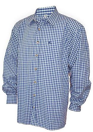 online store 6e1aa 8162c orbis Textil Trachtenhemd Karo Trachten-Pfoadl Karohemd blau ...