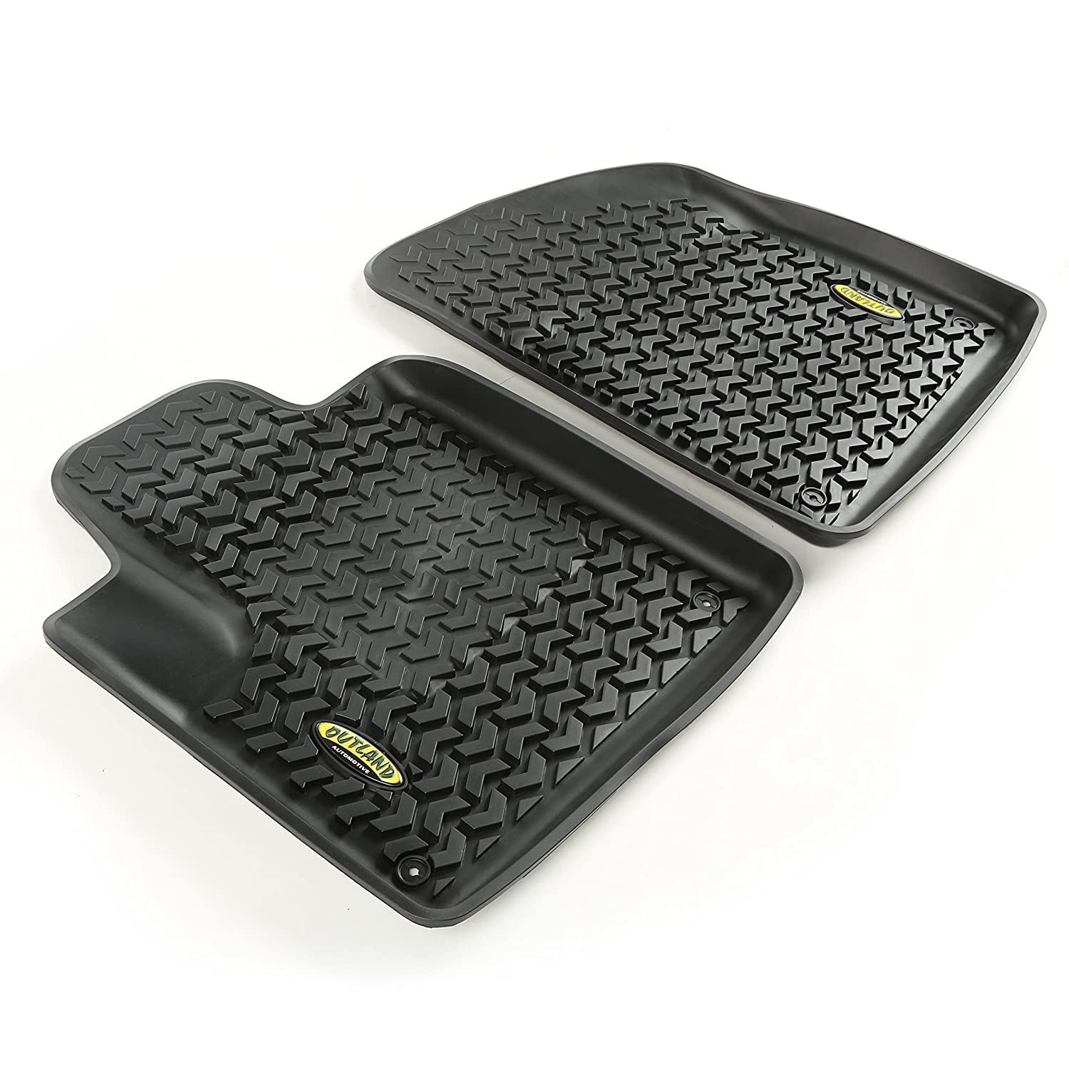 Outland 391292033 Black Front Row Floor Liner For Select Jeep Cherokee Models