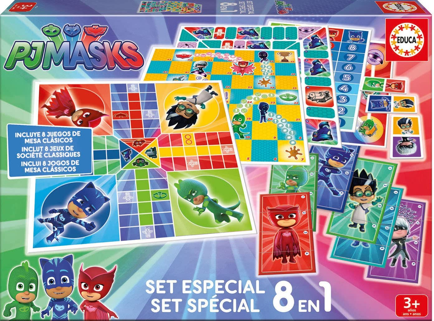 PJ Masks Juegos Reunidos 8 en 1 (Educa Borrás 17449): Amazon.es ...