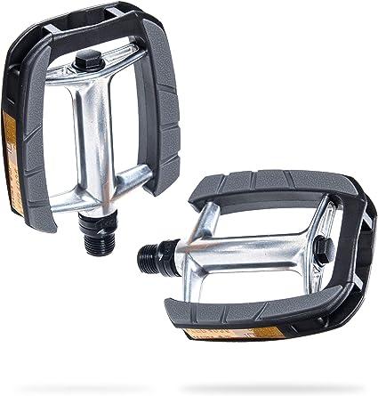 XLC Universalpedal Kunststoff Reflektor schwarz Fahrrad Bike Trekking Tour NEU
