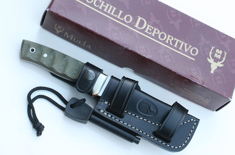 Amazon.com: Muela Knife Model KODIAK 10G.M MICARTA FIRESTEEL ...