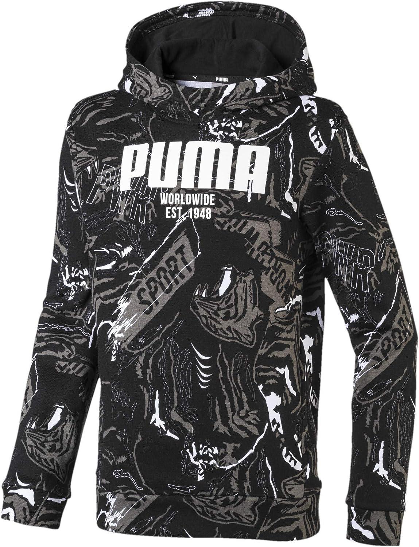 PUMA Jungen Alpha AOP Hoody FL B Pullover