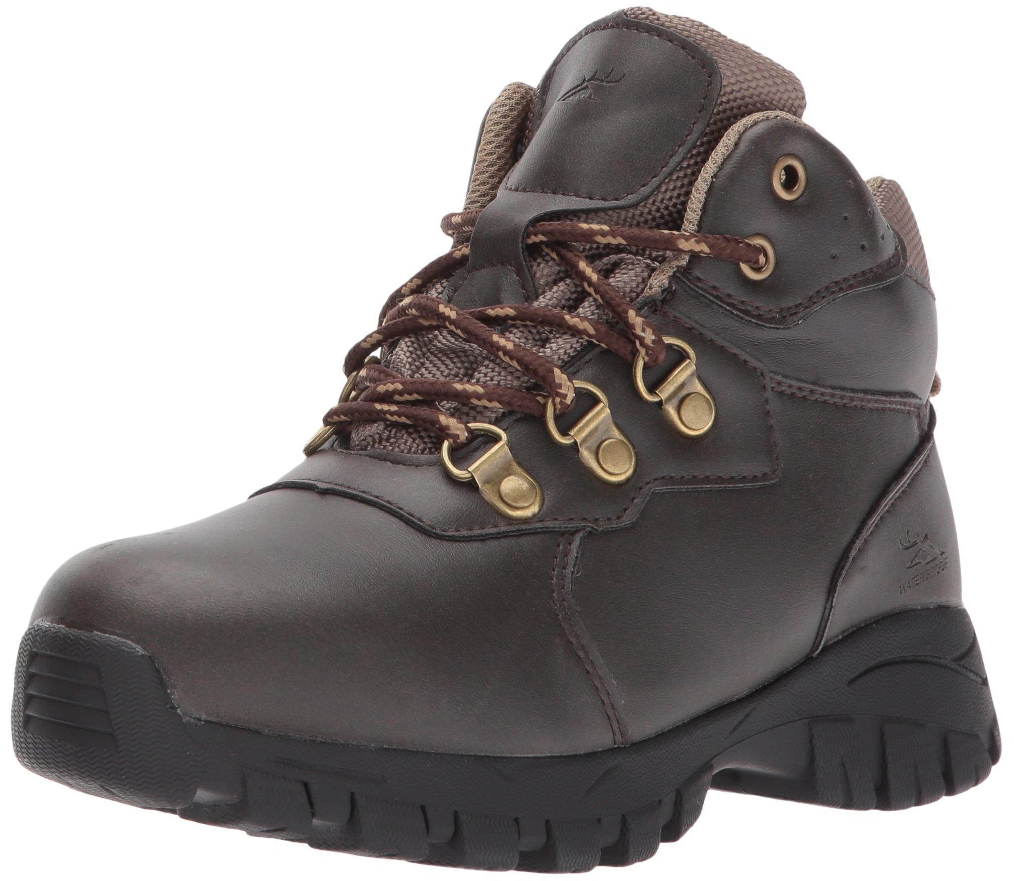 Deer Stags Boys' GORP Hiking Boot, Dark Brown/Taupe, 5 Medium US Big Kid