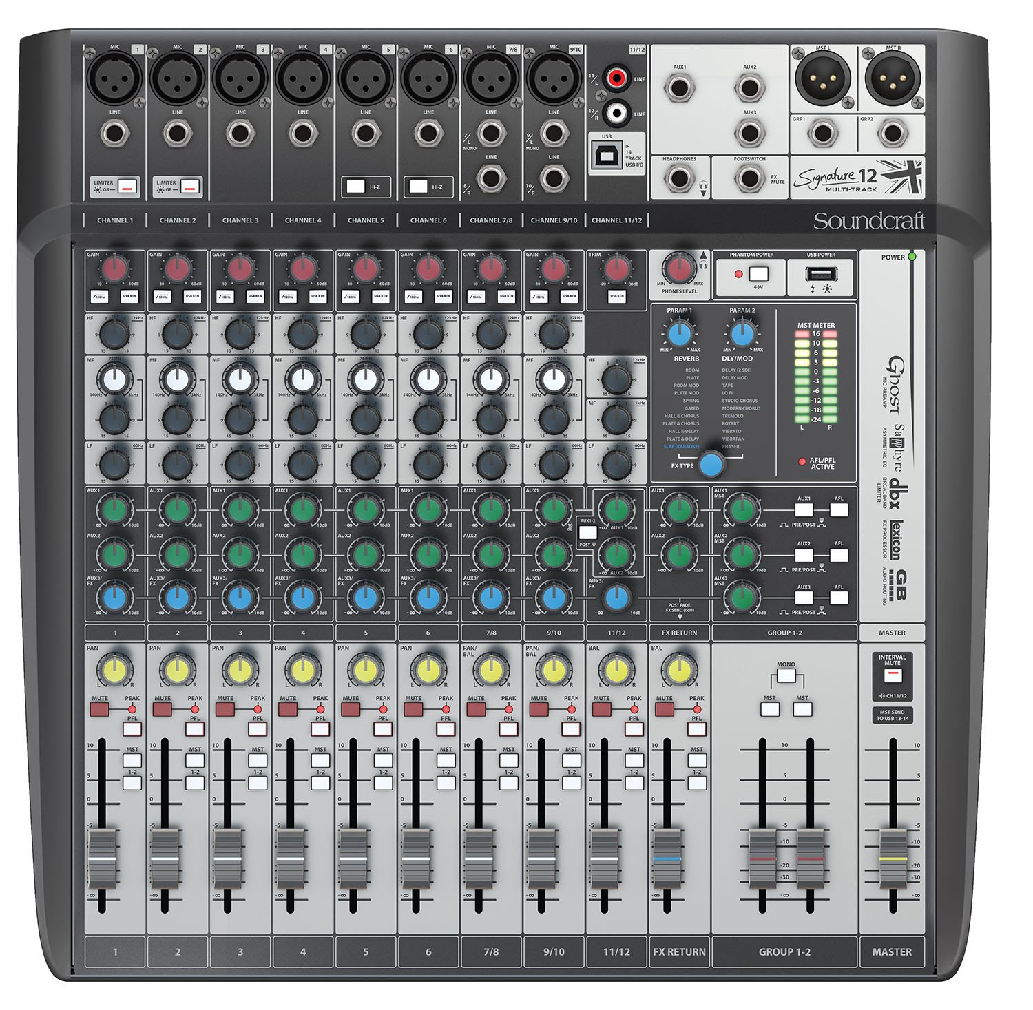Soundcraft Signature 12mtk Multitrack Analog Mixer Speaker Kabel Mbox T 2080 Musical Instruments