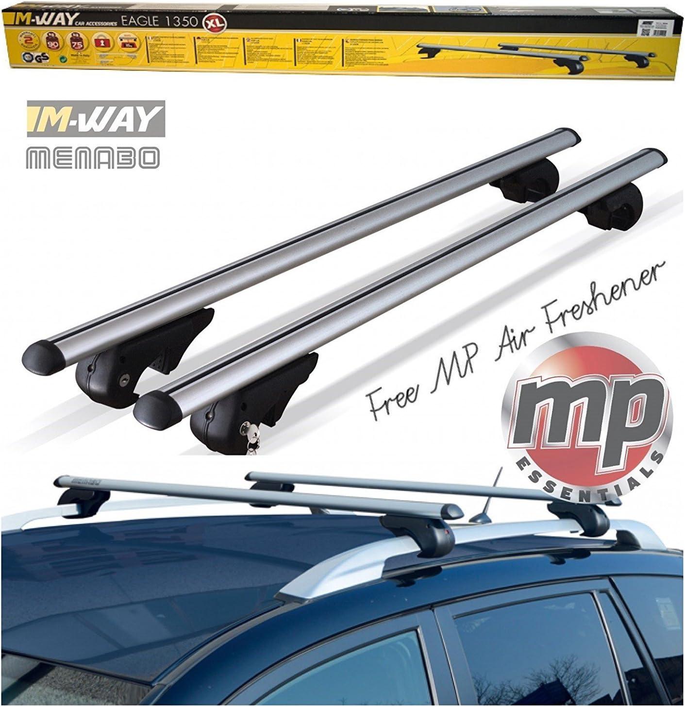 M.Way RB1040 135cm New 135mm CAR ROOF AERO Bars Rack Aluminium Locking Cross Rails