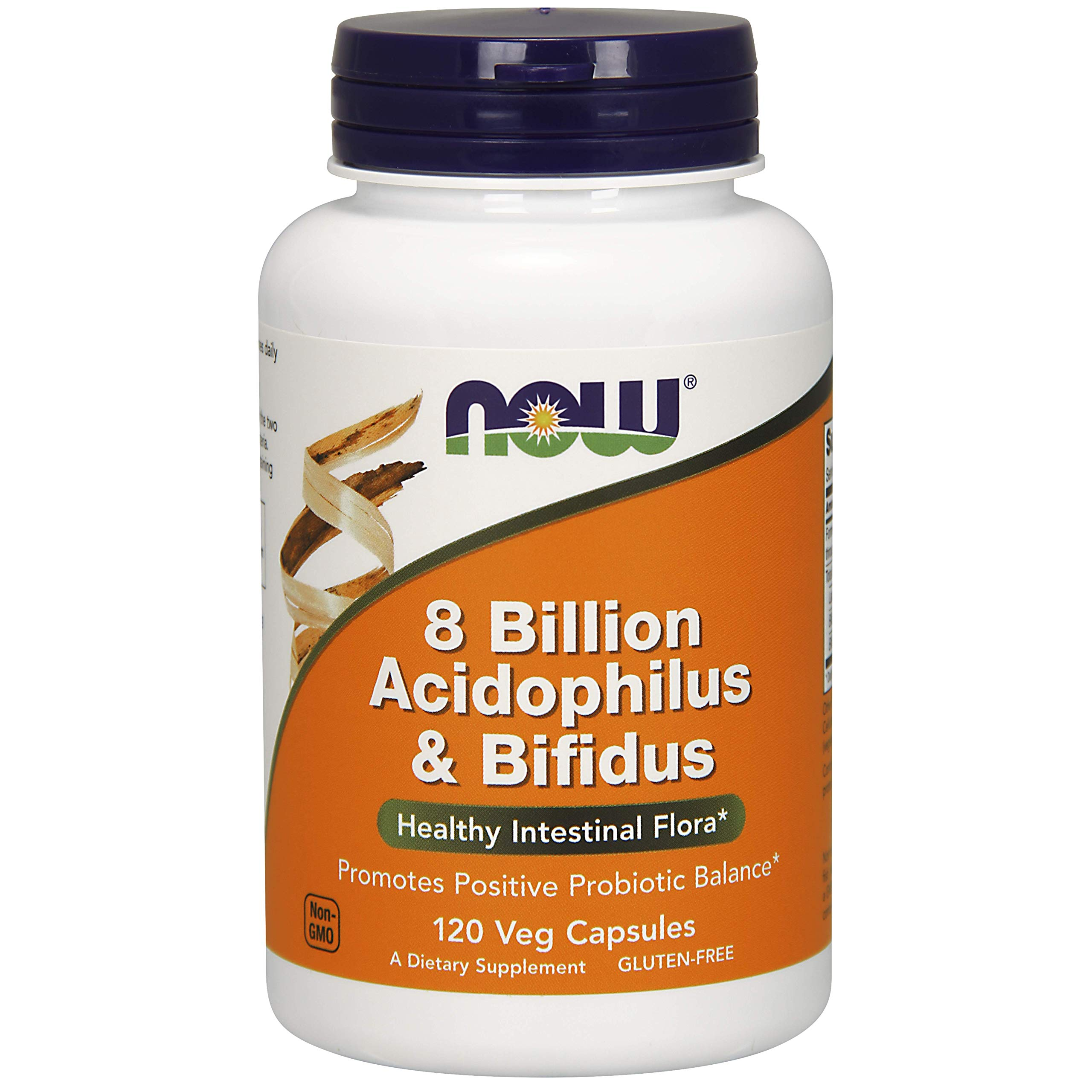 NOW Foods - 8 Billion Acidophilus & Bifidus 120 vcap by NOW Foods