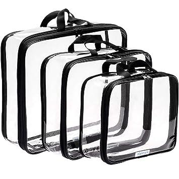 Amazon.com: Bolsa de cosméticos transparente – bolsa de aseo ...