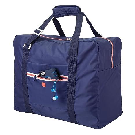 8d7082d35 mDesign Bolsa de viaje – Ligera maleta de cabina con cremallera y asas,  ideal como