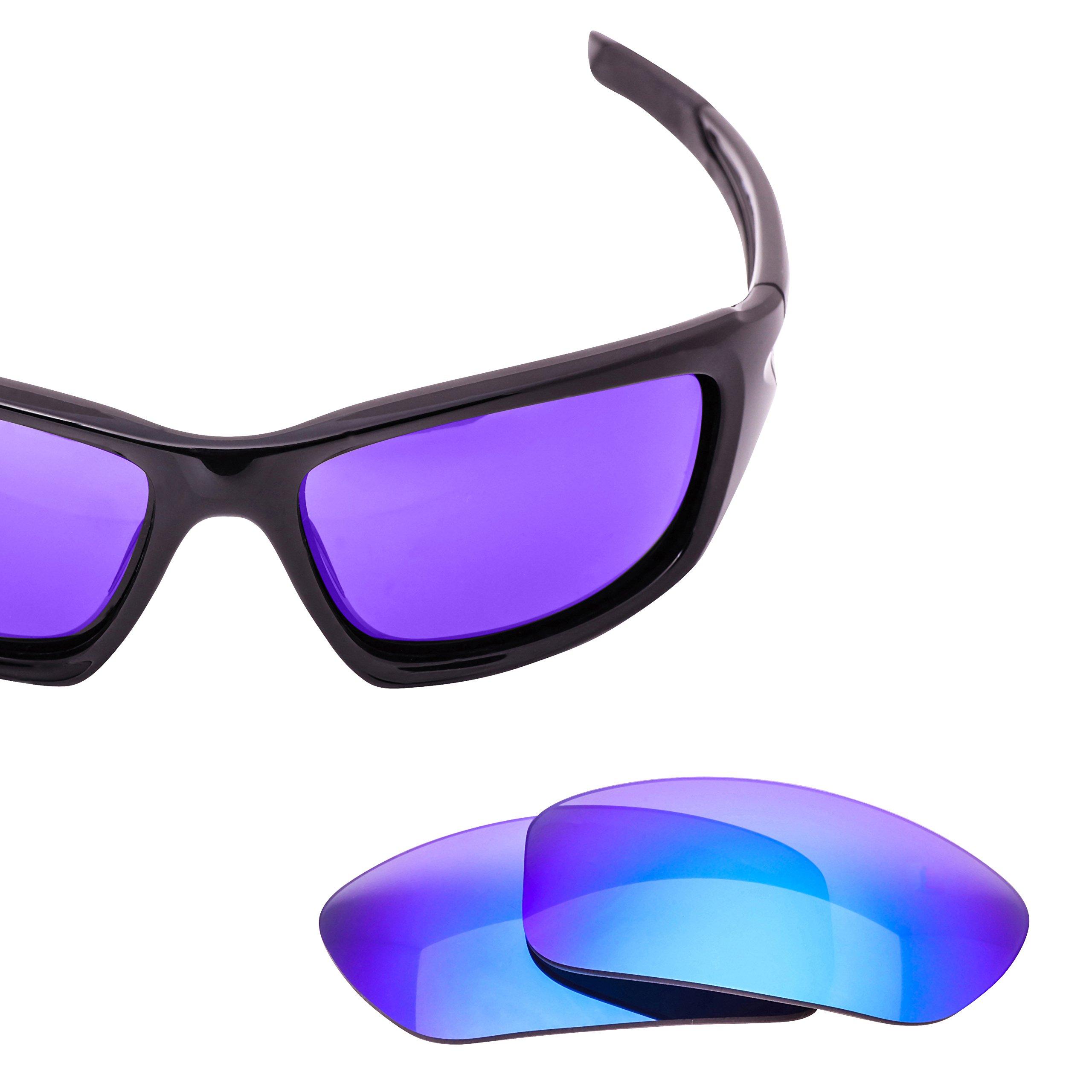 LenzFlip Replacement Lenses for Oakley VALVE Sunglass Frame - Gray Polarized with Blue Mirror Lenses