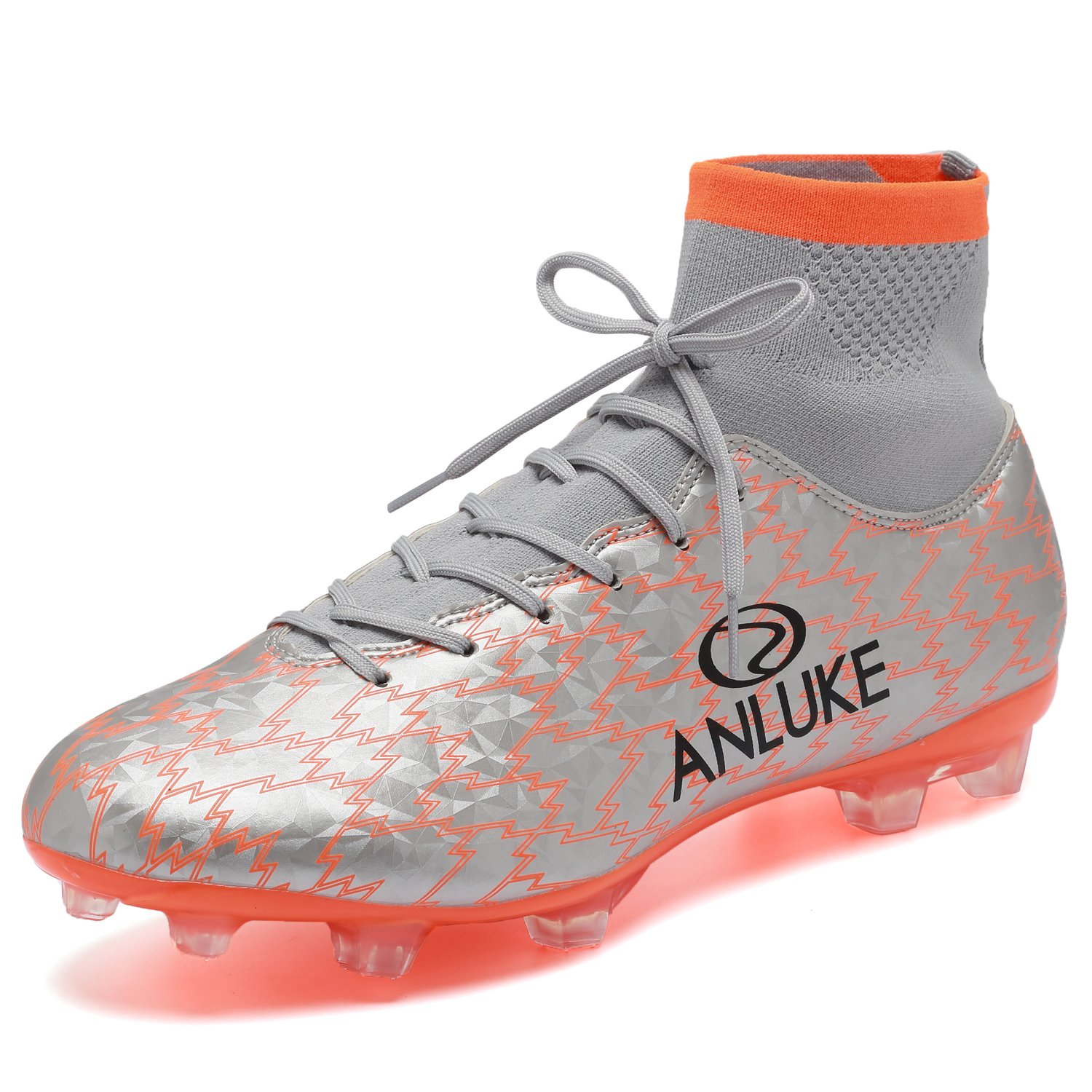 ANLUKE Mens Athletic Hightop Cleats Soccer Shoes Football Team Turf