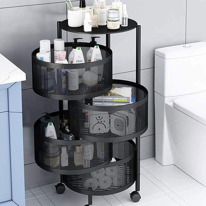 Amazon.com Round Layered Shelf Storage Rack Kitchen Rotating ...