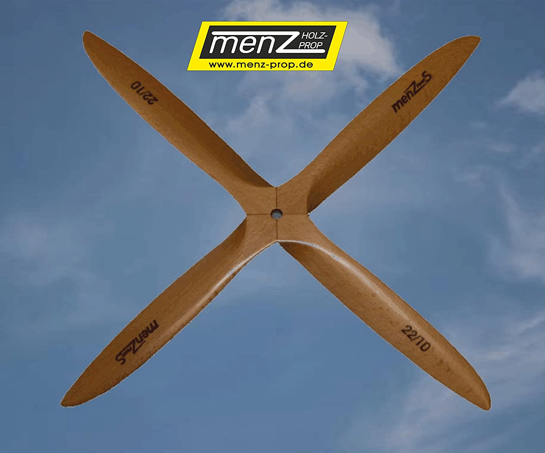 Menz S Holzpropeller 4-Blatt 28x10