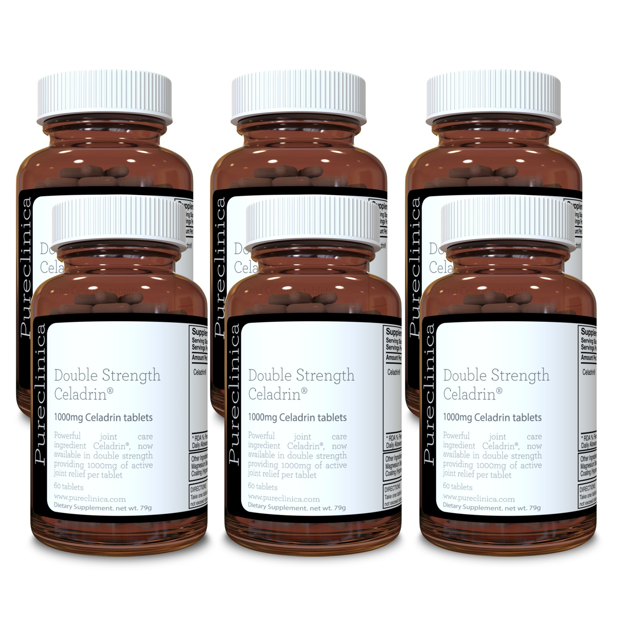 Double Strength Celadrin® - 12 month supply! (1000mg x 360 tablets) 6 bottles for a specially reduced price! SKU: CEL3x6