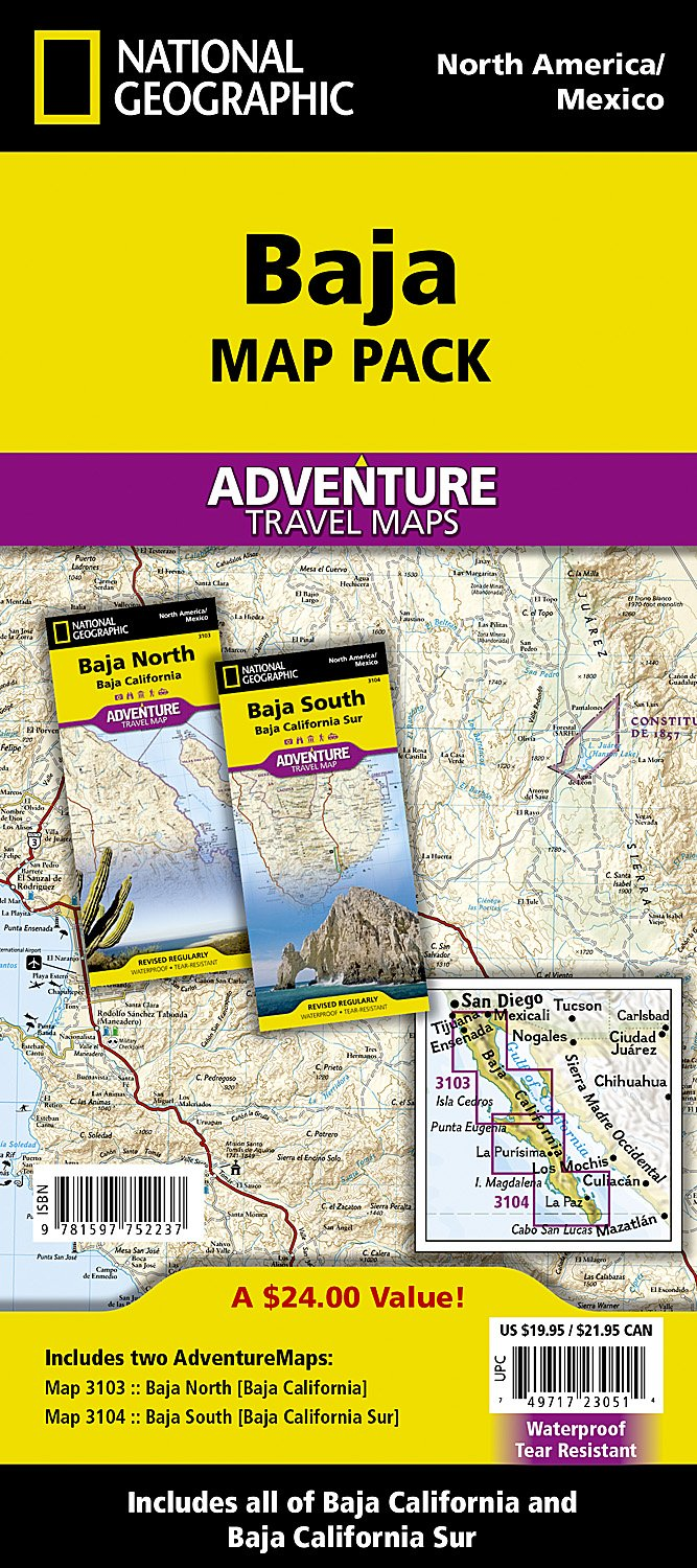 Baja [Map Pack Bundle] (National Geographic Adventure Map): National ...