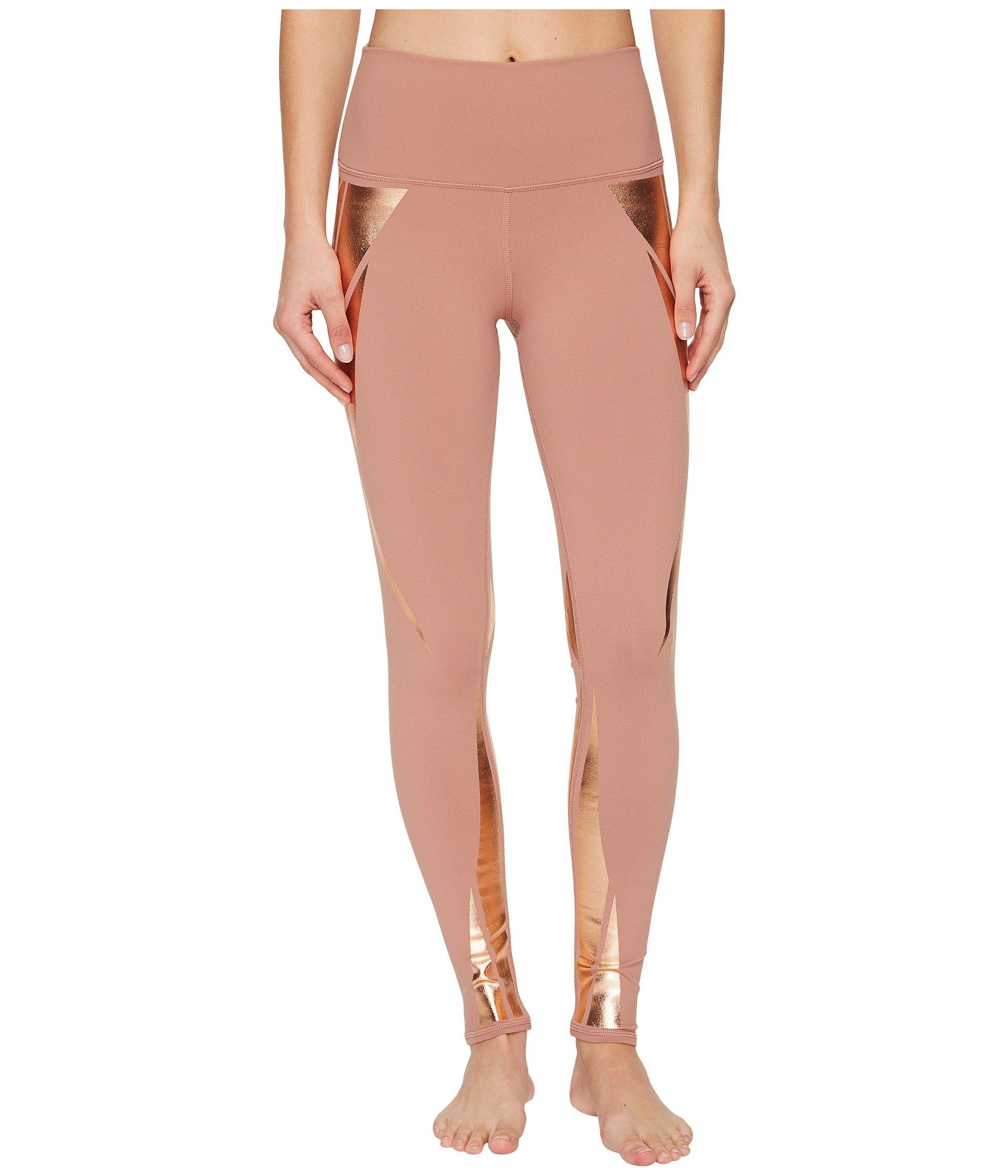 Alo Yoga Women's High Waist Airbrush Legging, Rosewater/Rosegold Facet, S