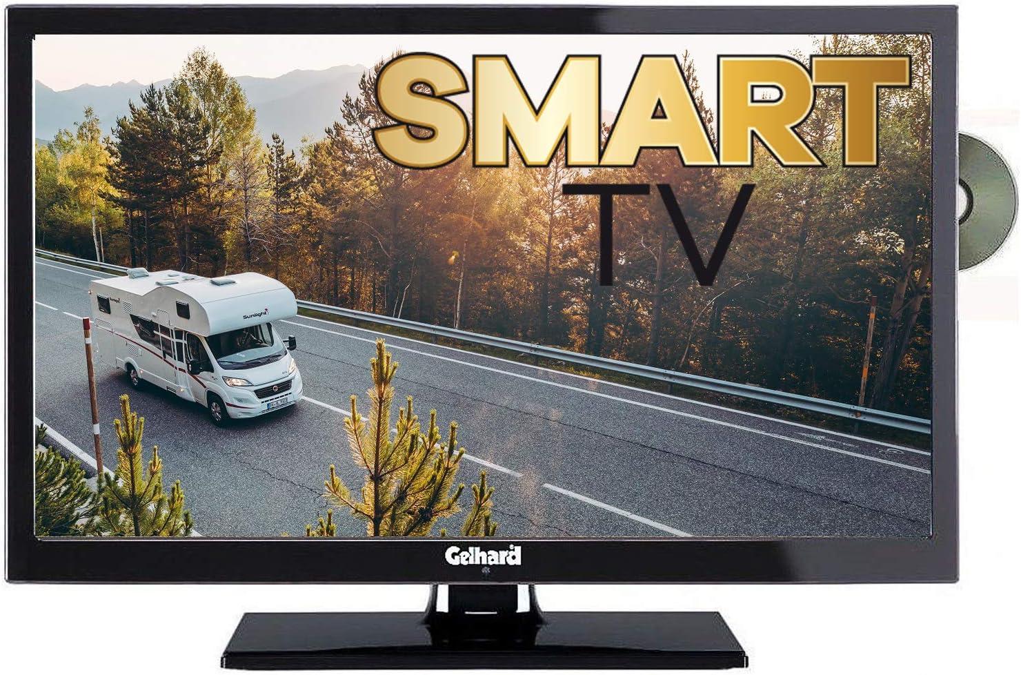 Gelhard GTV 8 Smart TV 8 cm (8 Zoll) Fernseher 8 Volt/ 8 Volt,  WLAN, Internet, DVD, USB