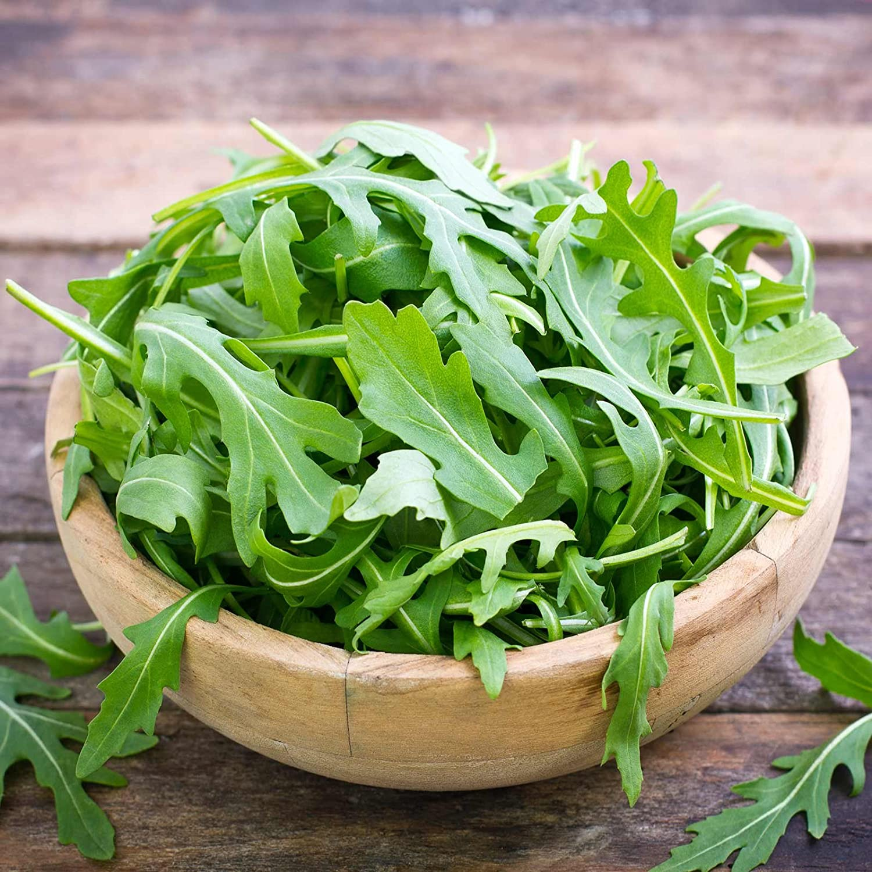 Organic Arugula Seeds - 1 Lb Bulk - Leafy Green Salad Garden Seeds: Microgreens, Baby Greens