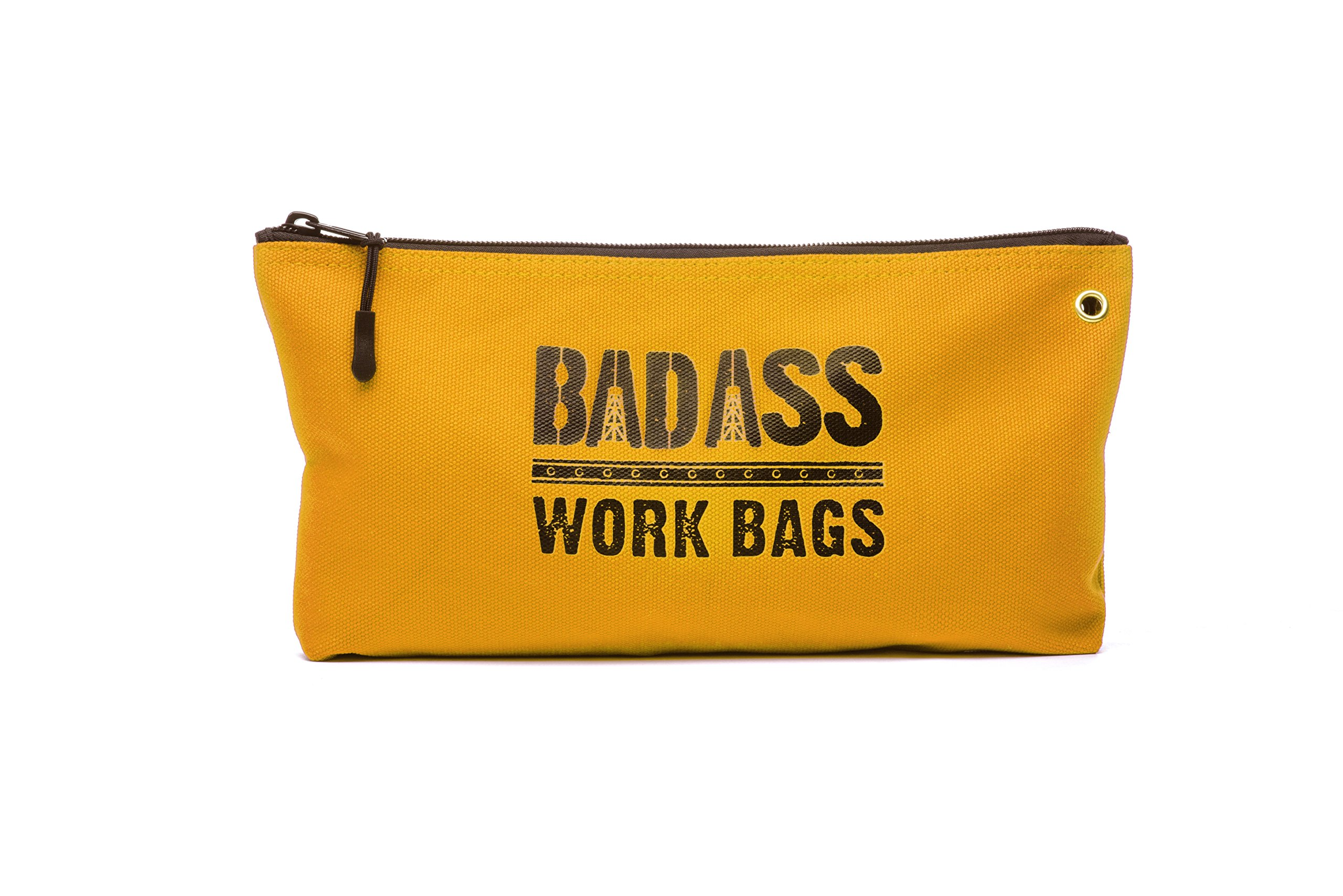 Bad Ass Work Gear   4-Pack of Heavy Duty 20 oz. Canvas Zipper Tool Bags in 4 colors   Toughest Utility Bag by Bad Ass Work Gear (Image #5)