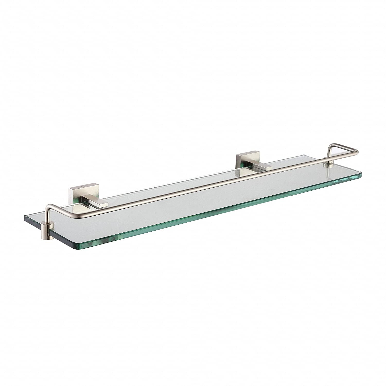 Kraus KEA-14445CH Aura Bathroom Accessories - Shelf with Railing Chrome