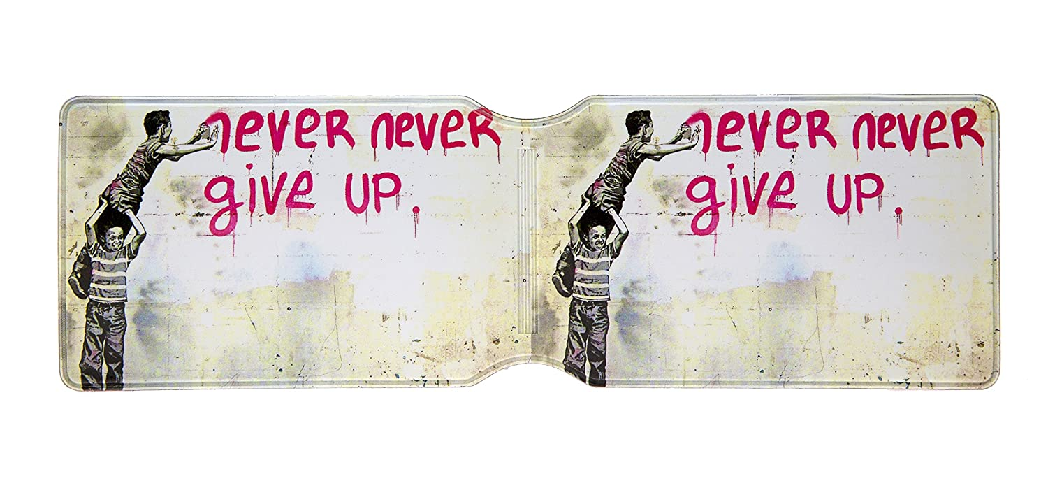 Mr Brainwash jamais jamais Give Up Porte-Cartes Oyster Urbangift