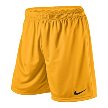NIKE Park Knit with brief, Pantalones de fútbol con calzoncillo interior para hombre, Amarillo