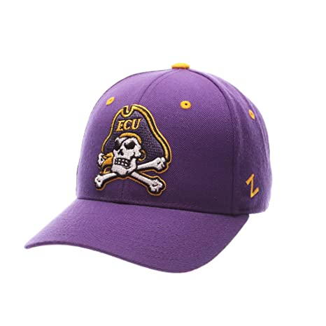 buy popular 79e01 971d3 Image Unavailable. Image not available for. Color  Zephyr Men s East  Carolina Pirates DHS ZWOOL Fitted HAT ...