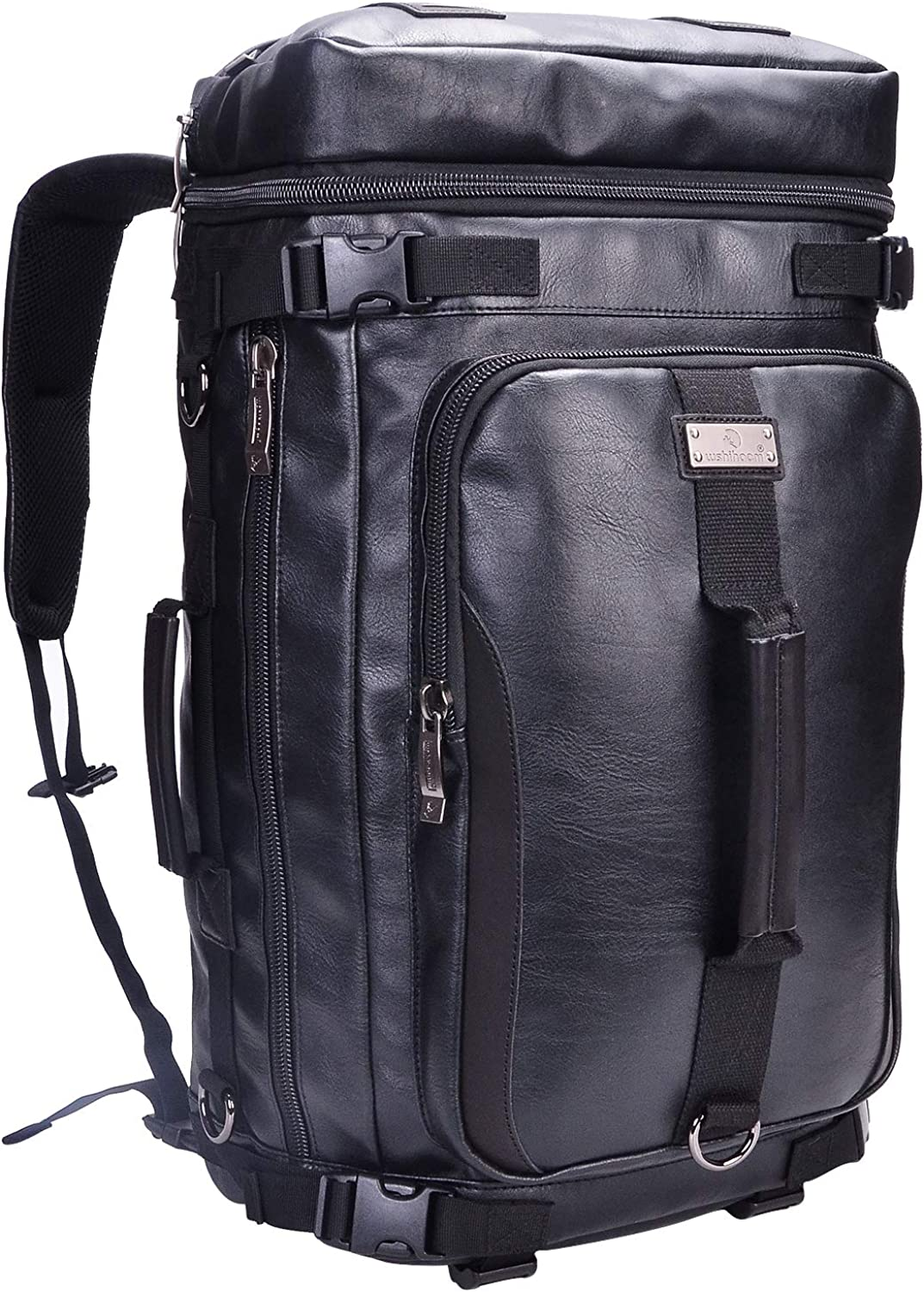 Wshihaom Canvas Rucksack Laptop Travel Backpack Outdoor Hiking Daypack