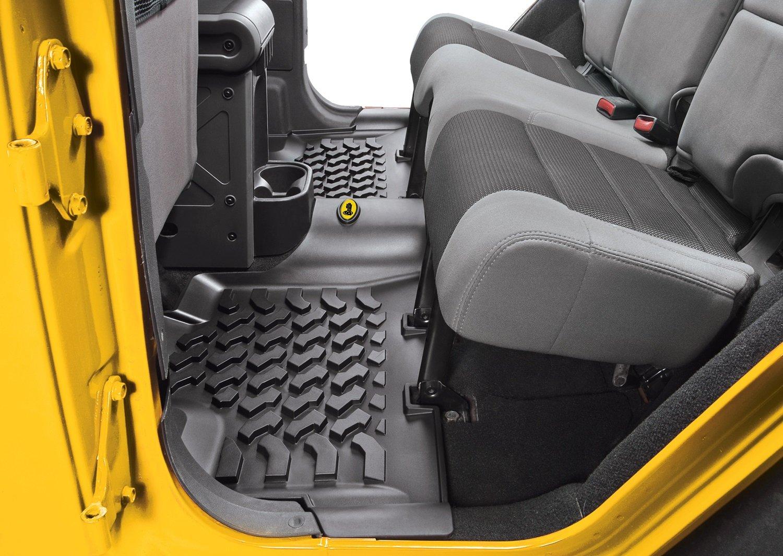 world wrangler large piece premium logo w collections mopar mats black carpet jeep floor mat